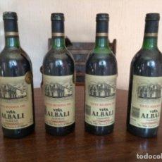 Coleccionismo de vinos y licores: BOTELLAS DE VINO TINTO RESERVA 1981. VIÑA ALBALI. VALDEPEÑAS.. Lote 209206495