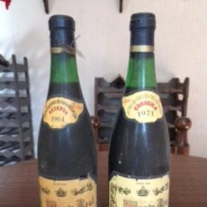 Coleccionismo de vinos y licores: MONTE REAL RSERVA 1 DE 1964 Y OTRA DE 1971. Lote 169017640