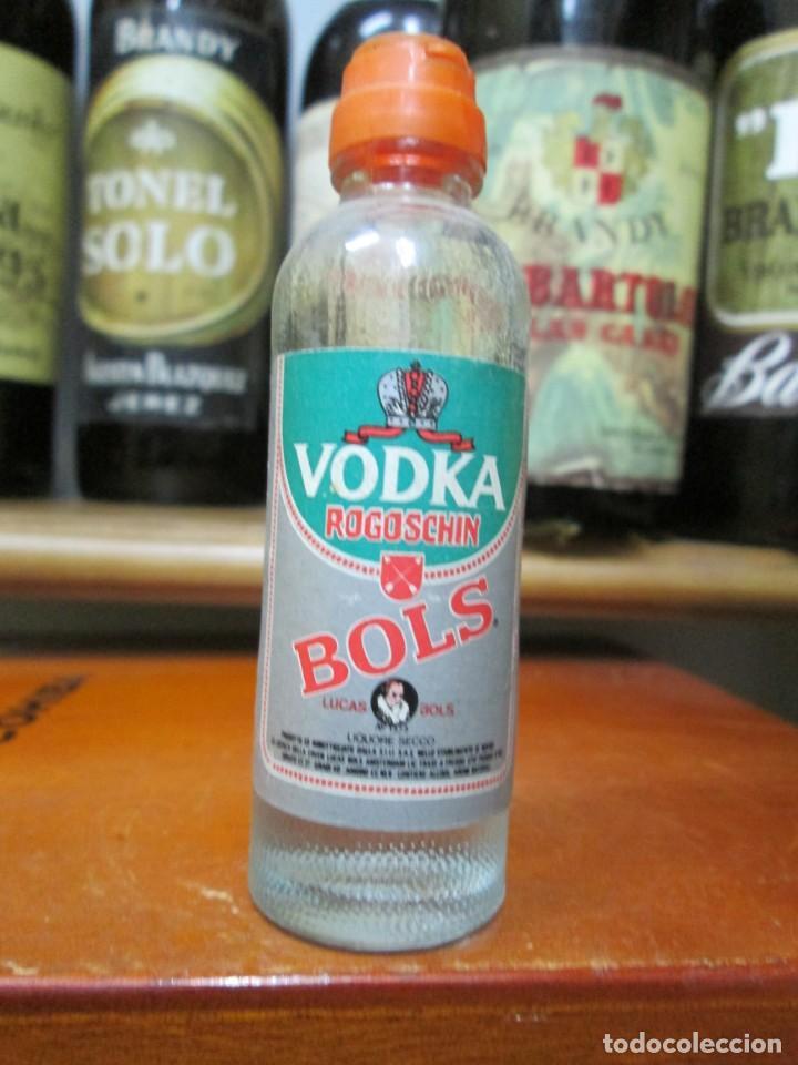 ANTIGUO BOTELLIN BRANDY COÑAC,VODKA ROGOSCHIN BOLS 11 CM (Coleccionismo - Botellas y Bebidas - Vinos, Licores y Aguardientes)