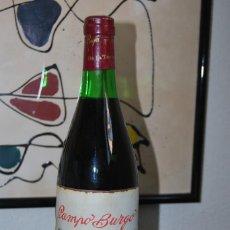 Coleccionismo de vinos y licores: BOTELLA DE VINO CAMPO BURGO - TINTO RIOJA COSECHA 1969 - EMBOTELLADO PARA TEJERÍAS LA COVADONGA. Lote 169391908