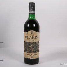 Coleccionismo de vinos y licores: BOTELLA DE VINO - RIOJA OLARRA / BODEGAS OLARRA / TINTO 1973 - PRECINTADA - LLENA. Lote 170271506
