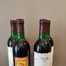 Coleccionismo de vinos y licores: FEDERICO PATERNINA - RIOJA RESERVA 1981- LOTE 4 BOTELLAS NUMERADAS - UNICAS. Lote 170429216