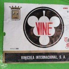 Coleccionismo de vinos y licores: ETIQUETA DE VINO VINE CASTILLO DE BUTRON VINICOLA INTERNACIONAL. Lote 170868155