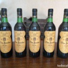 Coleccionismo de vinos y licores: 5 BOTELLAS DE VINO TINTO DON JACOBO, RIOJA ALTA COSECHA 1982. Lote 171013445