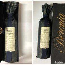 Coleccionismo de vinos y licores: BOTELLA DE VINO TINTO BERONIA GRAN RESERVA. COSECHA FUNDACIONAL DE 1973. INCLUYE CAJA. LLENA. 75 CL.. Lote 171579503