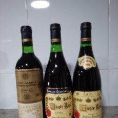 Coleccionismo de vinos y licores: LOTE VINO RIOJA. 3 BOTELLAS BODEGAS RIOJANAS.. Lote 172054140