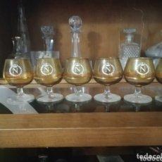 Coleccionismo de vinos y licores: 6 COPAS DE COÑA MARCA N NAPOLEÓN ANTIGUAS. Lote 172463515