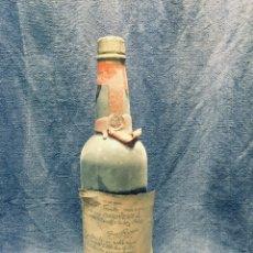 Coleccionismo de vinos y licores: ANTIGUA BOTELLA DE VINO CARIÑENA DON RAMÓN MANTENIDO EN ROBLE VIEJO PRECINTO DE ORIGEN ZARAGOZA. Lote 172824793