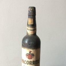 Coleccionismo de vinos y licores: BOTELLA VINTAGE PACORRITO MORILES ARAGON Y CA. LUCENA CÓRDOBA . Lote 173164967
