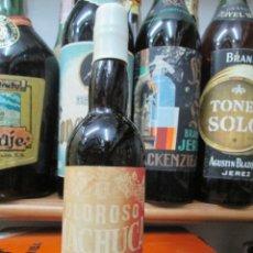Coleccionismo de vinos y licores: ANTIGUO BOTELLIN BRANDY COÑAC, OLOROSO MACHUCA DE ESTEPA. Lote 173514348