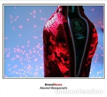 Coleccionismo de vinos y licores: ABSOLUT VODKA * MASQUERADE * DISEÑO LUXURY * + 3000 LENTEJUELAS ROJAS *BOTELLA PRECINTADA * - Foto 7 - 174206364