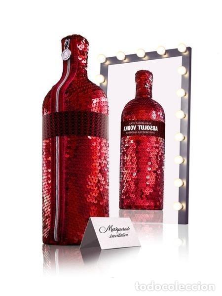 Coleccionismo de vinos y licores: ABSOLUT VODKA * MASQUERADE * DISEÑO LUXURY * + 3000 LENTEJUELAS ROJAS *BOTELLA PRECINTADA * - Foto 12 - 174206364