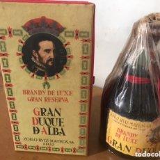 Coleccionismo de vinos y licores: BRANDY DE LUXE GRAN RESERVA GRAN DUQUE DE ALBA. Lote 174290542