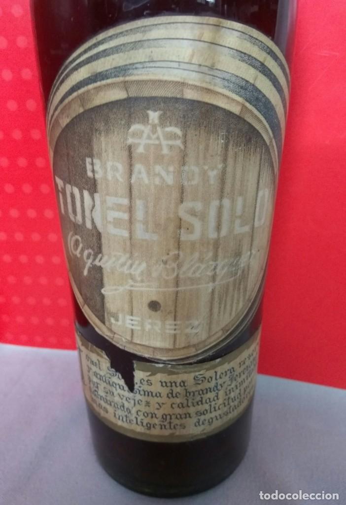 BRANDY TONEL SOLO DE AGUSTIN BLÁZQUEZ, JEREZ (Coleccionismo - Botellas y Bebidas - Vinos, Licores y Aguardientes)