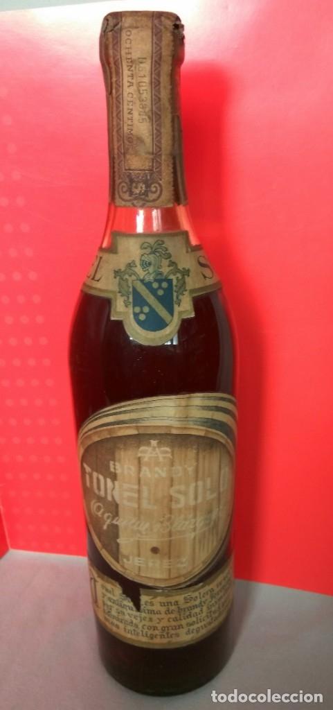 Coleccionismo de vinos y licores: BRANDY TONEL SOLO DE AGUSTIN BLÁZQUEZ, JEREZ - Foto 2 - 174614935