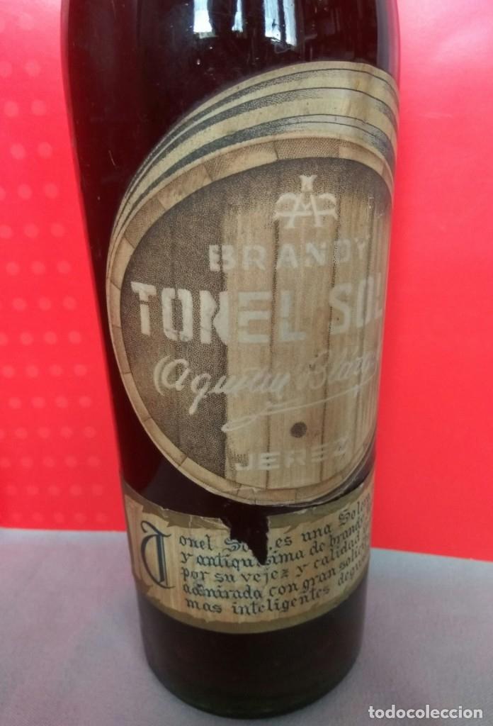 Coleccionismo de vinos y licores: BRANDY TONEL SOLO DE AGUSTIN BLÁZQUEZ, JEREZ - Foto 7 - 174614935