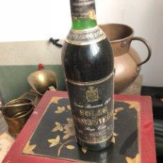 Coleccionismo de vinos y licores: BOTELLA DE VINO SOLAR DE SAMANIEGO GRAN RESERVA 1970 , PROVIENE DE BODEGA PARTICULAR. Lote 175755999