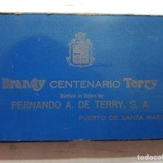 Coleccionismo de vinos y licores: CAJA CON BOTELLINES TERRY DE COLECCIÓN EN FUNDA ORIGINAL . Lote 175824587