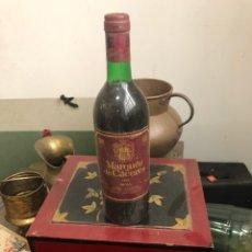 Coleccionismo de vinos y licores: BOTELLA DE VINO MARQUÉS DE CÁCERES CRIANZA 1987 , PROVIENE DE BODEGA PARTICULAR. Lote 175890183