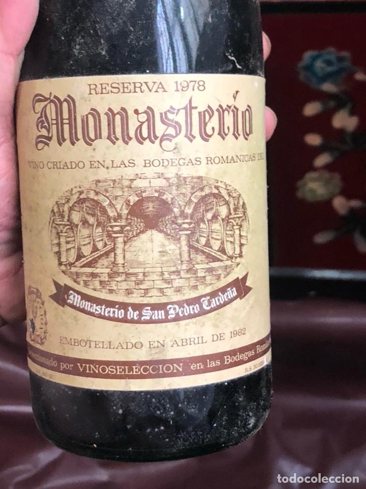 Coleccionismo de vinos y licores: Botella de vino monasterio reserva 1978 , proviene de bodega particular - Foto 2 - 175890688