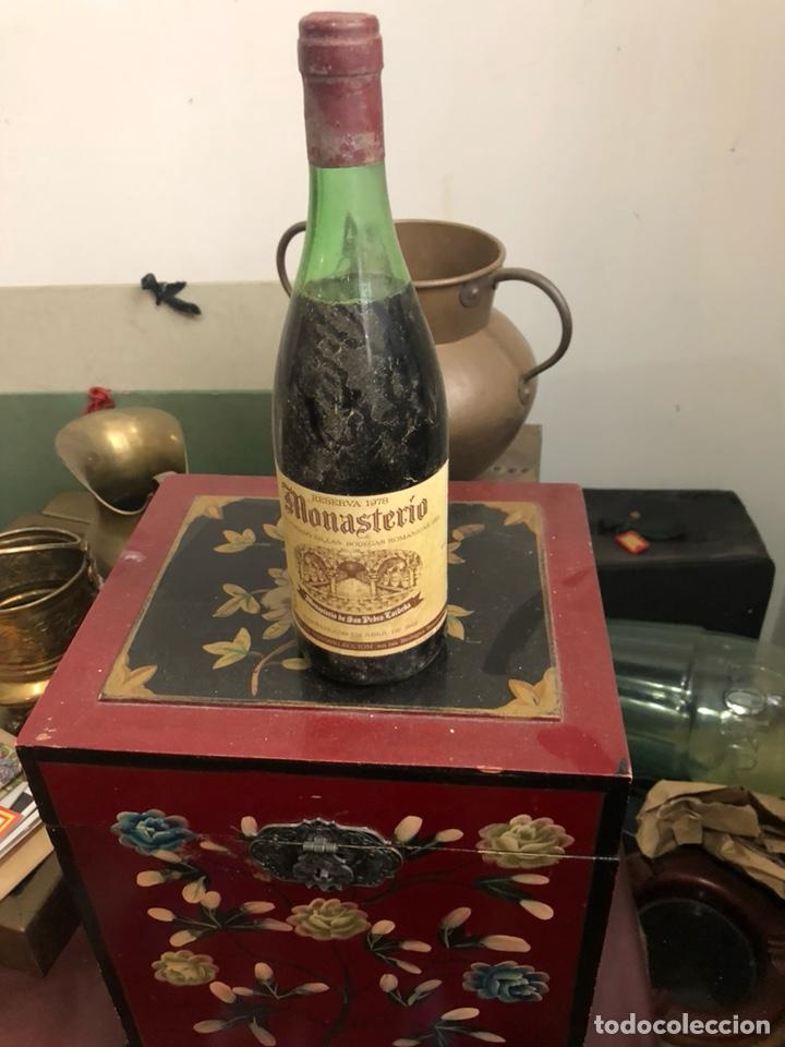 BOTELLA DE VINO MONASTERIO RESERVA 1978 , PROVIENE DE BODEGA PARTICULAR (Coleccionismo - Botellas y Bebidas - Vinos, Licores y Aguardientes)