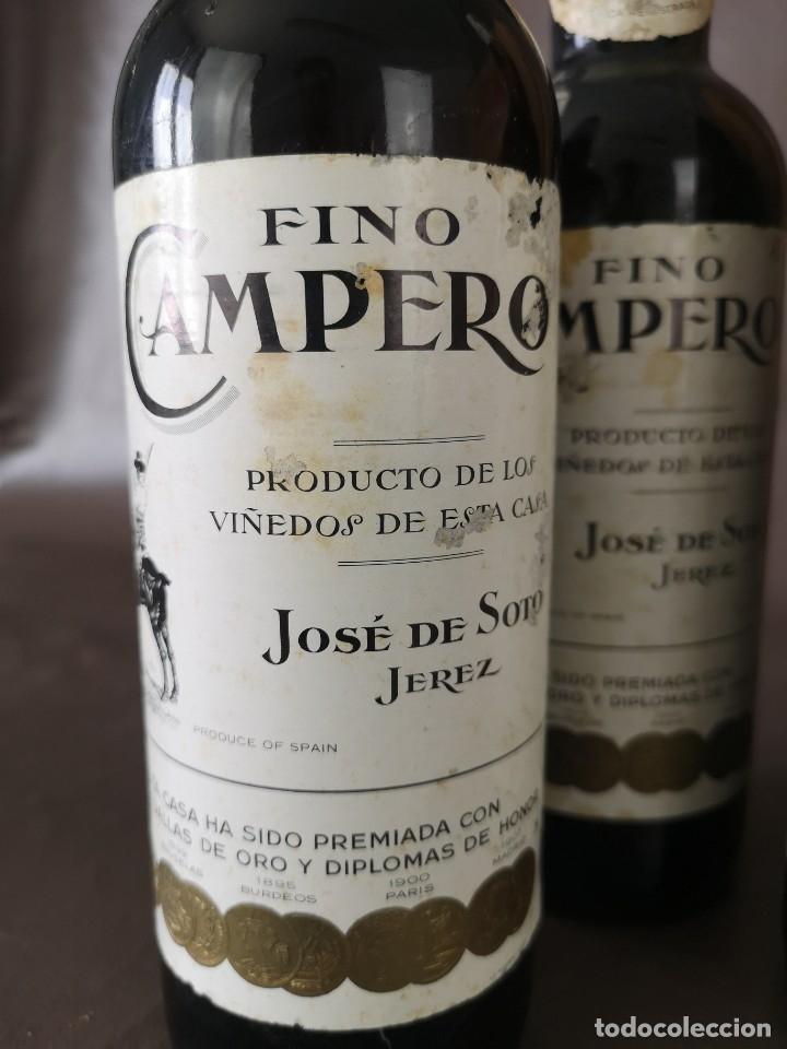 Coleccionismo de vinos y licores: CAJA DE 10 BOTELLAS DE JEREZ JOSE DE SOTO FINO CAMPERO AÑOS 60 SIN ABRIR - Foto 4 - 175901960