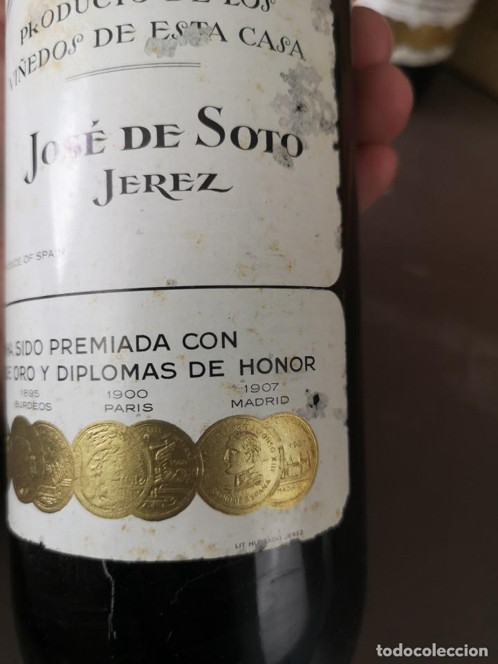 Coleccionismo de vinos y licores: CAJA DE 10 BOTELLAS DE JEREZ JOSE DE SOTO FINO CAMPERO AÑOS 60 SIN ABRIR - Foto 8 - 175901960
