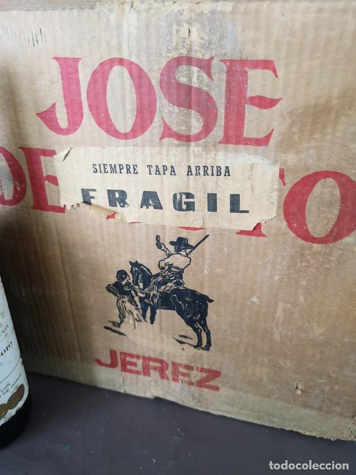 Coleccionismo de vinos y licores: CAJA DE 10 BOTELLAS DE JEREZ JOSE DE SOTO FINO CAMPERO AÑOS 60 SIN ABRIR - Foto 10 - 175901960