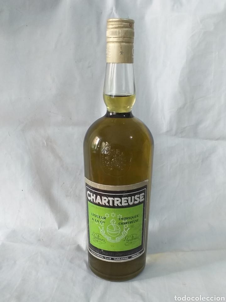 BOTELLA CHARTREUSE SIN ABRIR 55°,TAPON ROSCA,ETIQUETA VERDE ,TARRAGONA (Coleccionismo - Botellas y Bebidas - Vinos, Licores y Aguardientes)