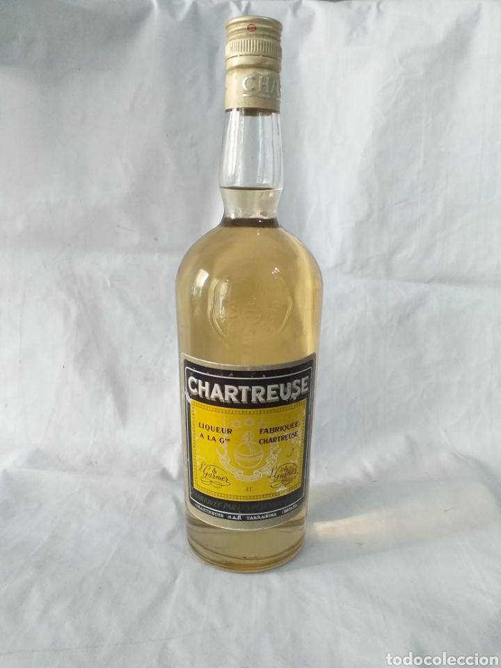 BOTELLA CHARTREUSE 43° SIN ABRIR,ETIQUETA AMARILLA,TARRAGONA (Coleccionismo - Botellas y Bebidas - Vinos, Licores y Aguardientes)