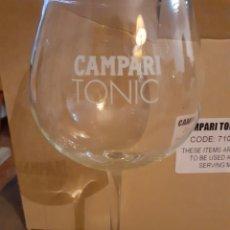 Coleccionismo de vinos y licores: CAMPARI TONIC-CAJA 6 COPAS 58 CL APERITIVO. Lote 176215124