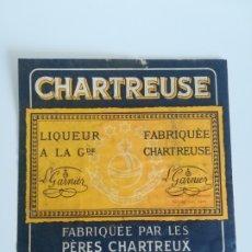 Coleccionismo de vinos y licores: ETIQUETA CHARTREUSE - LICOR TARRAGONA. Lote 176499754
