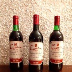 Coleccionismo de vinos y licores: LOTE 3 BOTELLAS CVNE - COSECHA 1980 - D.O. RIOJA - VINO TINTO. Lote 177008797