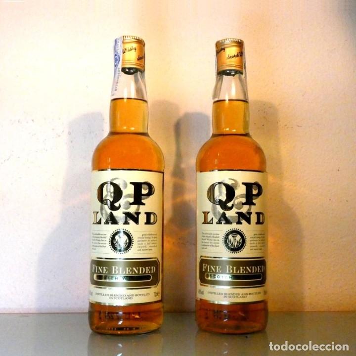 LOTE 2 BOTELLAS WHISKY QP LAND - FINE BLENDED (Coleccionismo - Botellas y Bebidas - Vinos, Licores y Aguardientes)