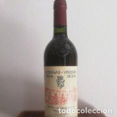 Coleccionismo de vinos y licores: BOTELLA DE VINO TINTO RESERVA. RIVERA DEL DUERO . VEGA SICILIA - VALBUENA 5,° 1999. Lote 177617800
