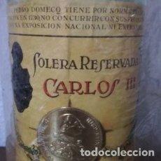 Coleccionismo de vinos y licores: ANTIGUA BOTELLA BRANDY CARLO III SOLERA. Lote 177618757