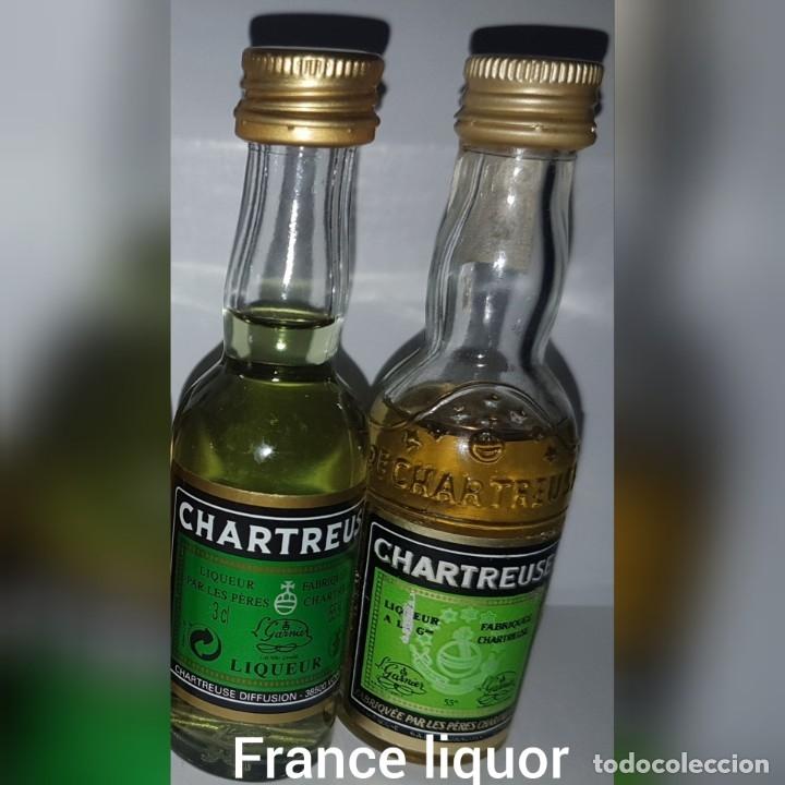 CHARTREUSE LICOR MINIATURA (Coleccionismo - Botellas y Bebidas - Vinos, Licores y Aguardientes)