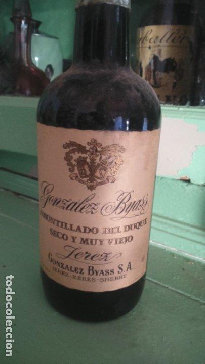 PIEZA UNICA EXCLUSIVO AMONTILLADO DE JEREZ DEL DUQUE GONZÁLEZ BYASS VORS (Coleccionismo - Botellas y Bebidas - Vinos, Licores y Aguardientes)
