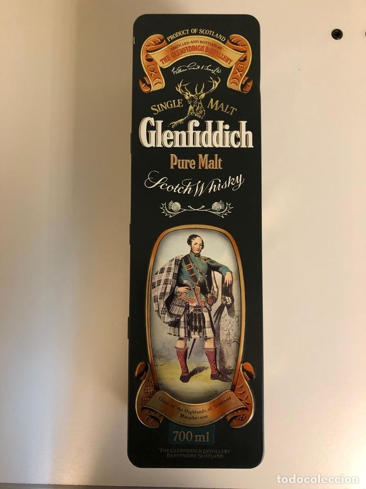 WHISKY - GLENFIDDICH - CLANS OF THE HIGHLANDS - COLECCIÓN 1980S - 4/8 CLAN MACPHERSON - 70CL. (Coleccionismo - Botellas y Bebidas - Vinos, Licores y Aguardientes)