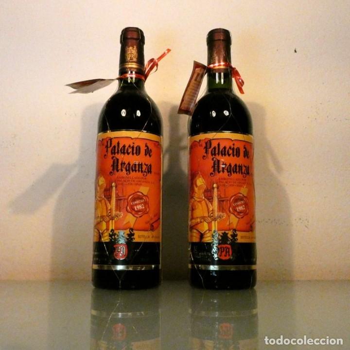 LOTE 2 BOTELLAS PALACIO DE ARGANZA 1982 - VINO DE COLECCIÓN (Coleccionismo - Botellas y Bebidas - Vinos, Licores y Aguardientes)