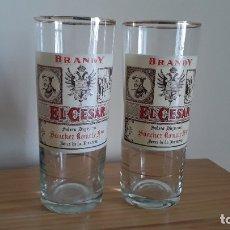 Coleccionismo de vinos y licores: VASOS BRANDY EL CÉSAR, SÁNCHEZ ROMATE. Lote 178347938