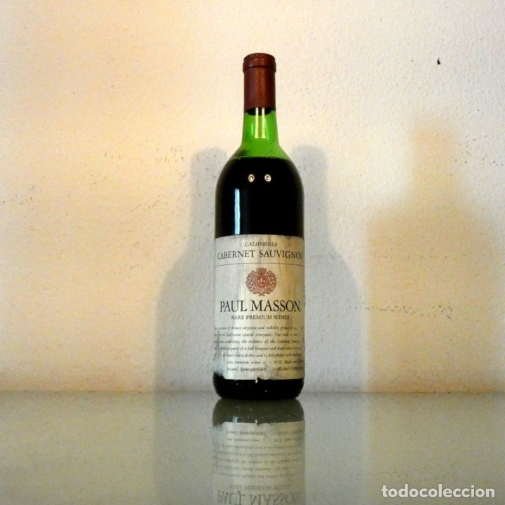 VINO WINE - PAUL MASSON - CALIFORNIA - (USA) (Coleccionismo - Botellas y Bebidas - Vinos, Licores y Aguardientes)