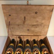 Coleccionismo de vinos y licores: VINO - 5 X FAUSTINO I GRAN RESERVA 1989 - RIOJA - ESTUCHE DE MADERA. Lote 178594847