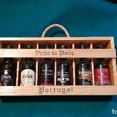 Coleccionismo de vinos y licores: CAJA MADERA 6 BOTELLINES 5 CL. VINOS DE PORTUGAL OPORTO (PRECINTADOS). Lote 179196821