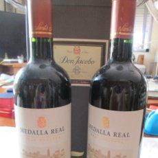 Coleccionismo de vinos y licores: VINO BOTELLAS DOS MEDALLA REAL , SANTA RITA CARMENERE 2015 GRAN RESERVA . Lote 180187527