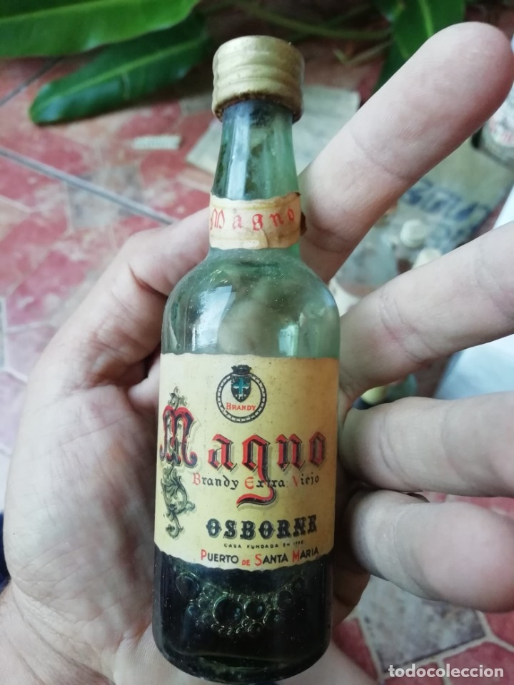 ANTIGUA BOTELLA BOTELLIN BRANDY MAGNO OSBORNE (Coleccionismo - Botellas y Bebidas - Vinos, Licores y Aguardientes)