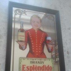 Coleccionismo de vinos y licores: BRANDY ESPLÉNDIDO - DE BODEGAS GARVEY JEREZ - BONITO Y COTIZADO ESPEJO PUBLICITARIO ANTIGUO . Lote 180340743