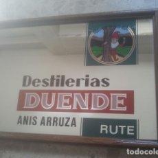 Coleccionismo de vinos y licores: DESTILERÍAS DUENDE - ANÍS ARRUZA - RUTE, CÓRDOBA - ANTIGUO ESPEJO PUBLICITARIO - EMBLEMÁTICA CASA. Lote 180344025