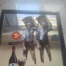 Coleccionismo de vinos y licores: PRIVILEGIO DEL REY SANCHO - VINOS - EL HONOR DE LA RIOJA ALAVESA - ANTIGUO ESPEJO PUBLICITARIO . Lote 180346148