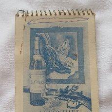 Coleccionismo de vinos y licores: COÑAC EL COLOSO BODEGAS JB GONZALEZ JEREZ CUADERNO. Lote 180477983